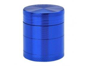 Drtič tabáku kovový Champ High ALU, 40mm, modrý
