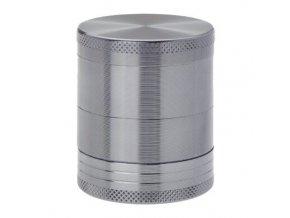 Drtič tabáku kovový Champ High ALU, 40mm, šedý