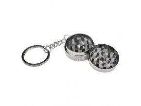 Drtič tabáku kovový mini 24mix, klíčenka