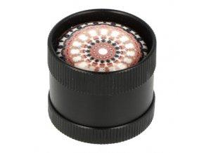 Drtič tabáku kovový mini 3D, 30mm