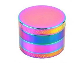 Drtič tabáku kovový Rainbow, 55mm, 6set