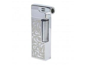 Dýmkový zapalovač Hadson Kansas Pipe, stříbrné dýmky