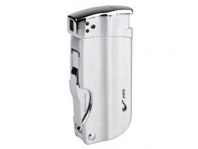 Dýmkový zapalovač Hadson Pipe Multi, stříbrný