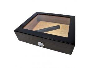 Humidor na doutníky Blachs, černý, stolní