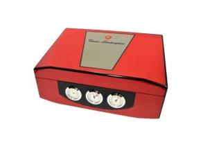 Humidor na doutníky Lamborghini Reddster, červený, stolní