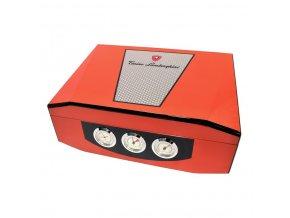 Humidor na doutníky Lamborghini Edgio, oranžový, stolní