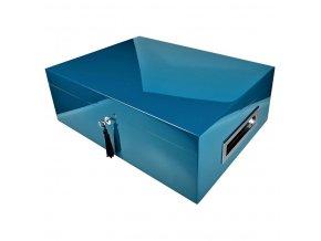 Humidor na doutníky Villagio, modrý, stolní