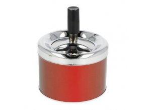 Cigaretový popelník otočný kovový, malý