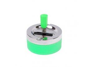 Cigaretový popelník otočný Neon zelený, kovový