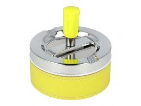 Cigaretový popelník otočný Neon žlutý, kovový