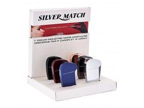 Zapalovač Silver Match Ultra Lighter, 6mix