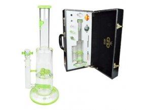 Bong sklo GG Grace Set zelený, 38 cm, perkulace
