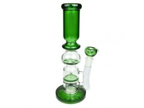 Bong sklo Paul, 30 cm, green, perkulace