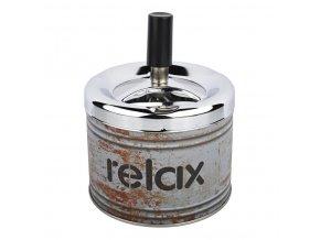 Cigaretový popelník otočný Angelo Relax grey, kovový