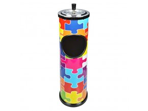 Venkovní popelník - odpadkový koš Puzzle, 60cm