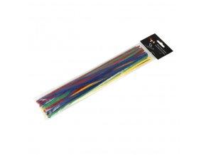 Čističe dýmek Angelo barevné, 30cm, 25ks