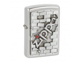 Zapalovač Zippo Wall Emblem, satin