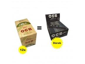 Cigaretové filtry OCB BIO + OCB Slim Premium ZDARMA