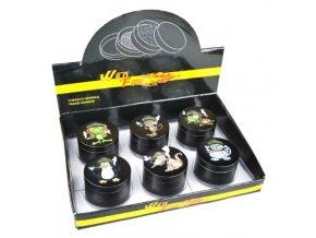 Drtič tabáku kovový WildFire Animals 50mm, 6mix