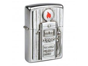 Zapalovač Zippo Gas Pump, patinovaný