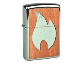 Zapalovač Zippo Woodchuck Large Flame, vysoký lesk