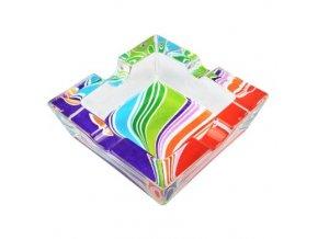 Cigaretový popelník skleněný Rainbow