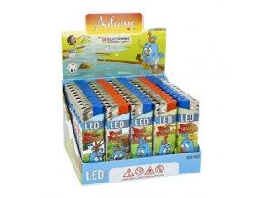 Zapalovač Adamo Piezo LED Birds