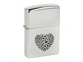 Zapalovač Zippo Heart Mini, lesklý