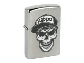 Zapalovač Zippo Skull in Cap, broušený