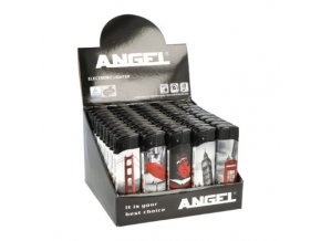 Zapalovač Angel Piezo Black and White, Red