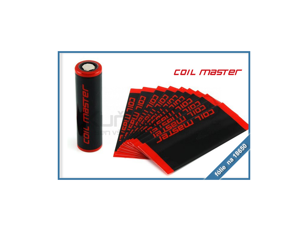 smrstovaci folie na baterie 18650 coil master