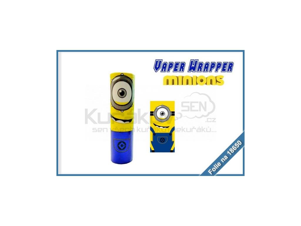 smrstovaci folie na baterie 18650 minions
