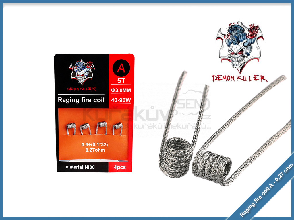 Demon Killer Raging Fire Coil Ni80 4pcs a