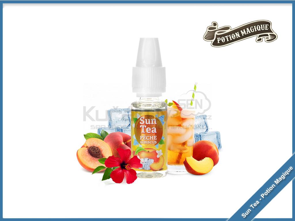 Sun Tea Peche Hibiscus potion magique