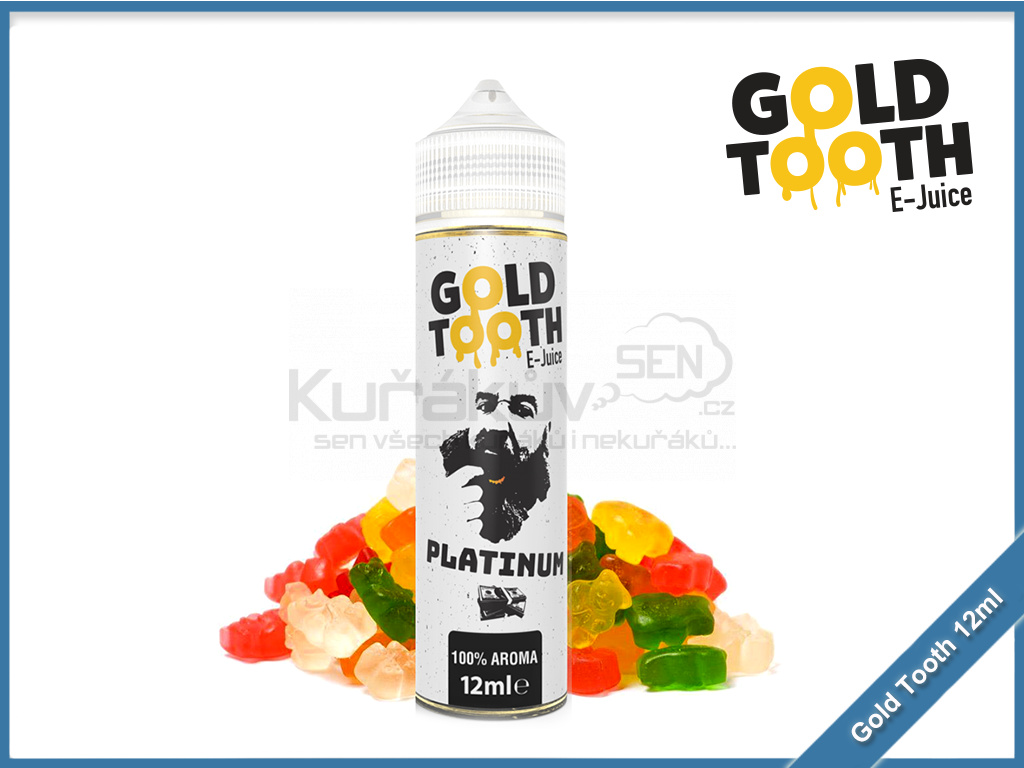 GoldTooth shake and vape 12ml aroma platinum