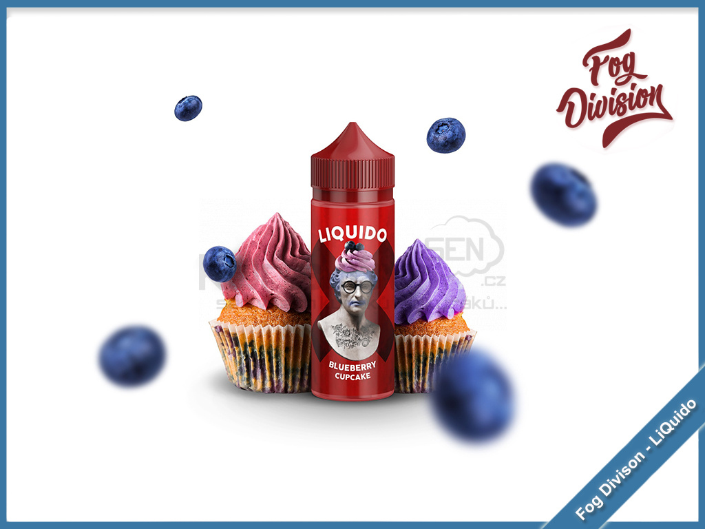 fog division liquido blueberry cupcake
