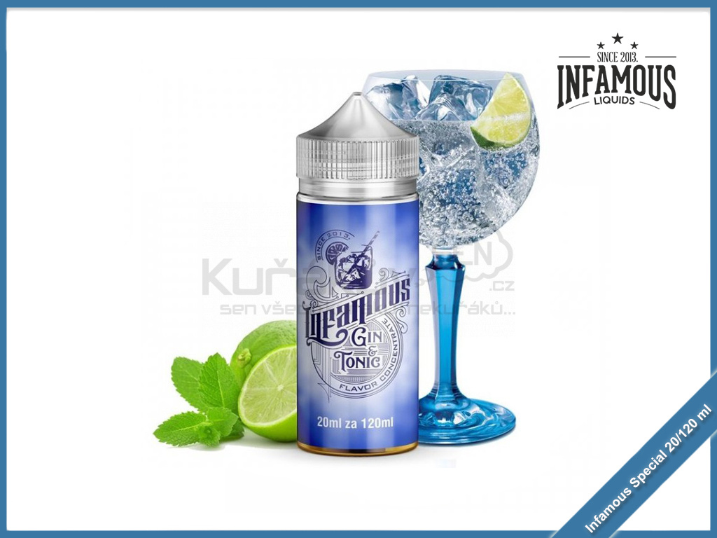 Gin onic Lime infused Infamous special