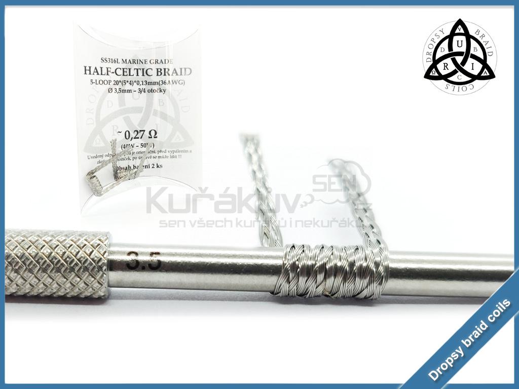 5 loop Half Celtic braid 20 027