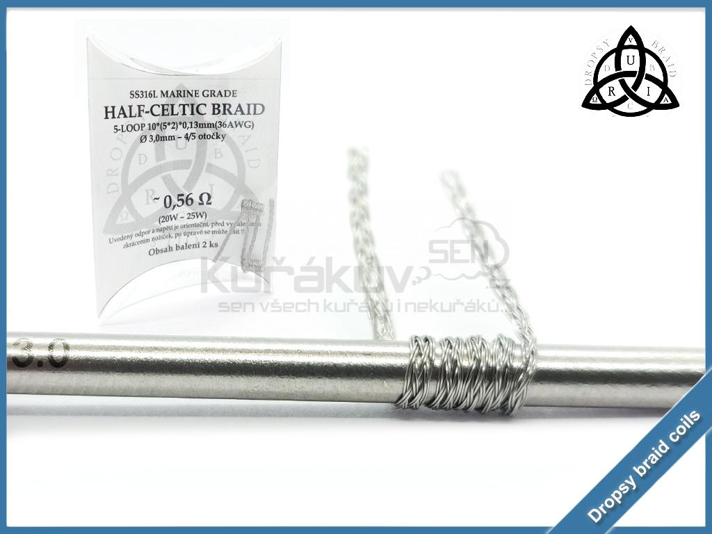 5 loop Half Celtic braid 10 056