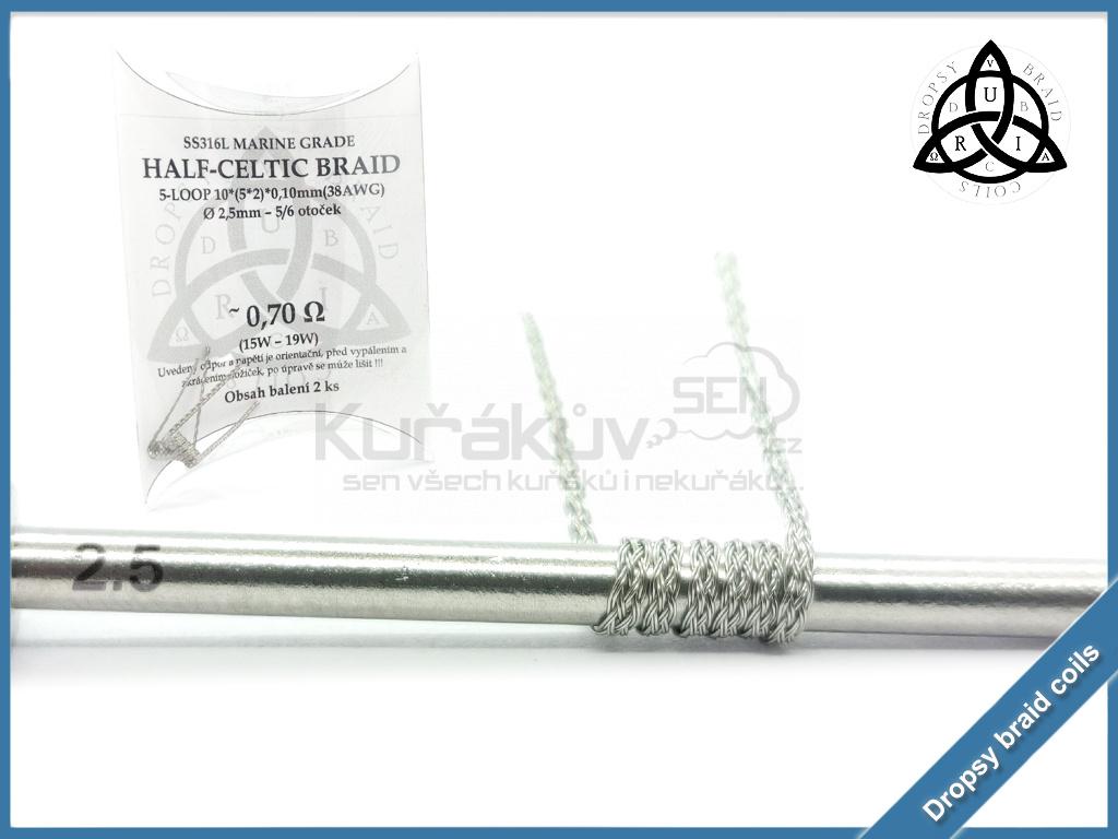 5 loop Half Celtic braid 10 070