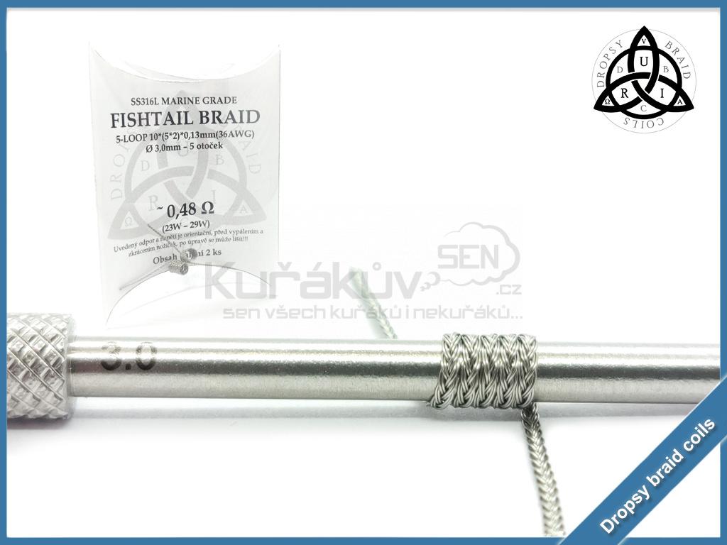 5 loop Fishtail braid 10 048