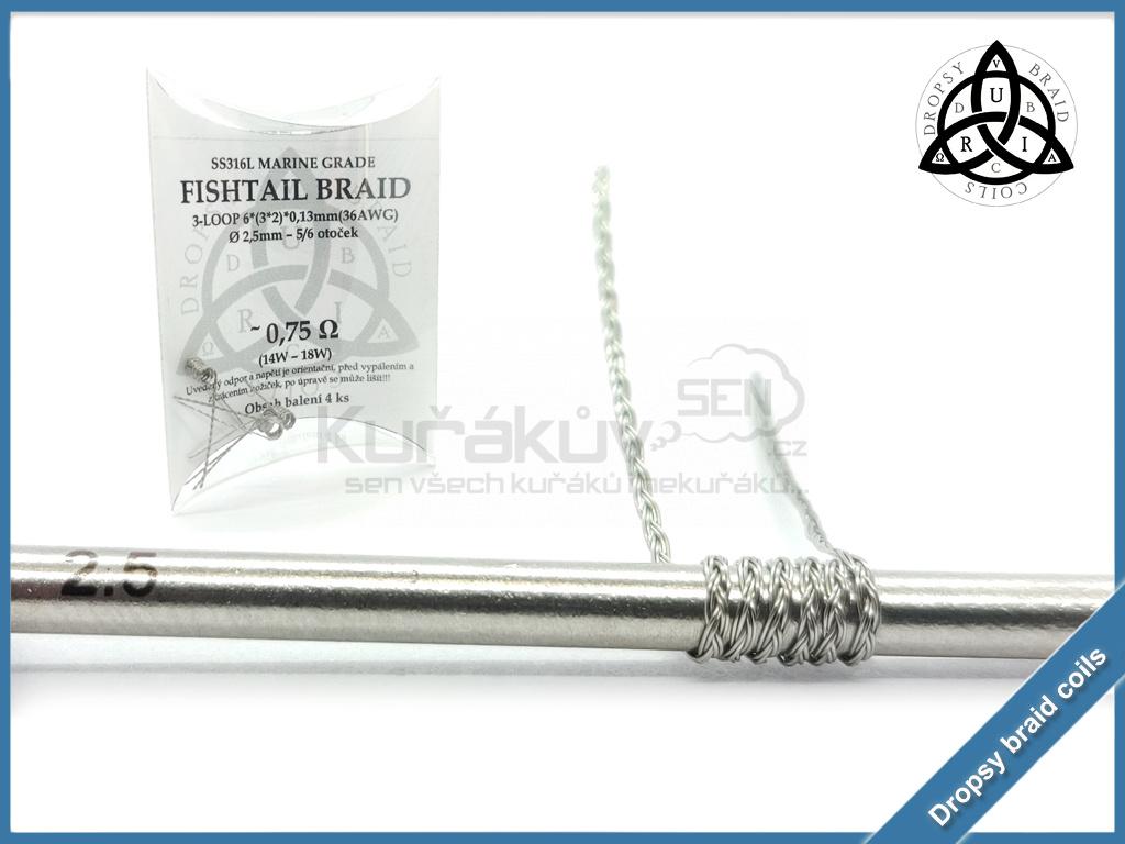 3 loop Fishtail braid 6 075