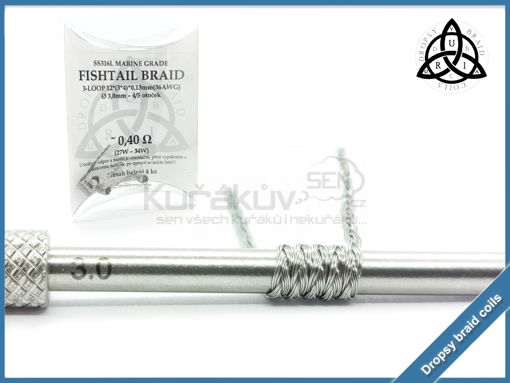 3 loop Fishtail braid 12 040