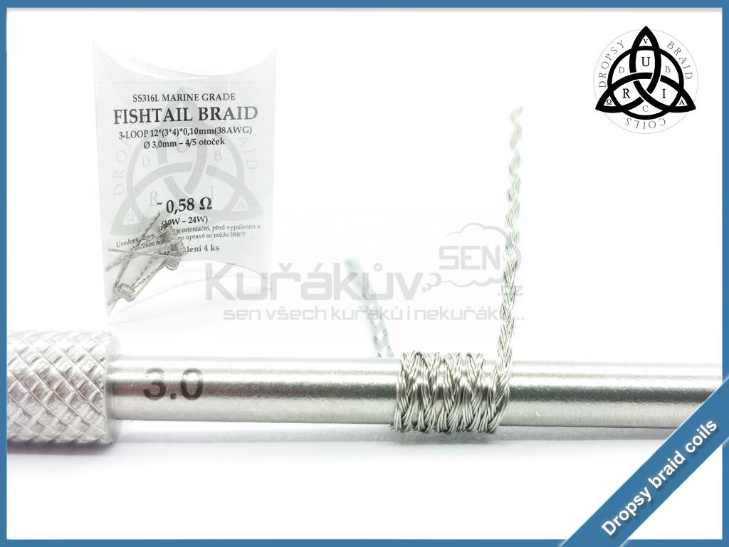 3 loop Fishtail braid 12 058