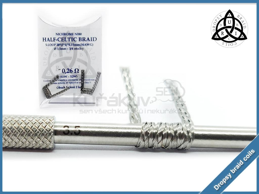 5 loop Half Celtic braid 20 026 ni80