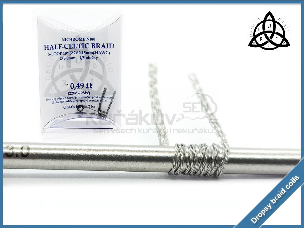5 loop Half Celtic braid 10 049 ni80
