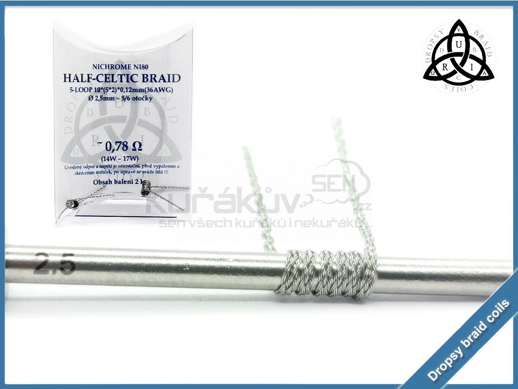 5 loop Half Celtic braid 10 078 ni80
