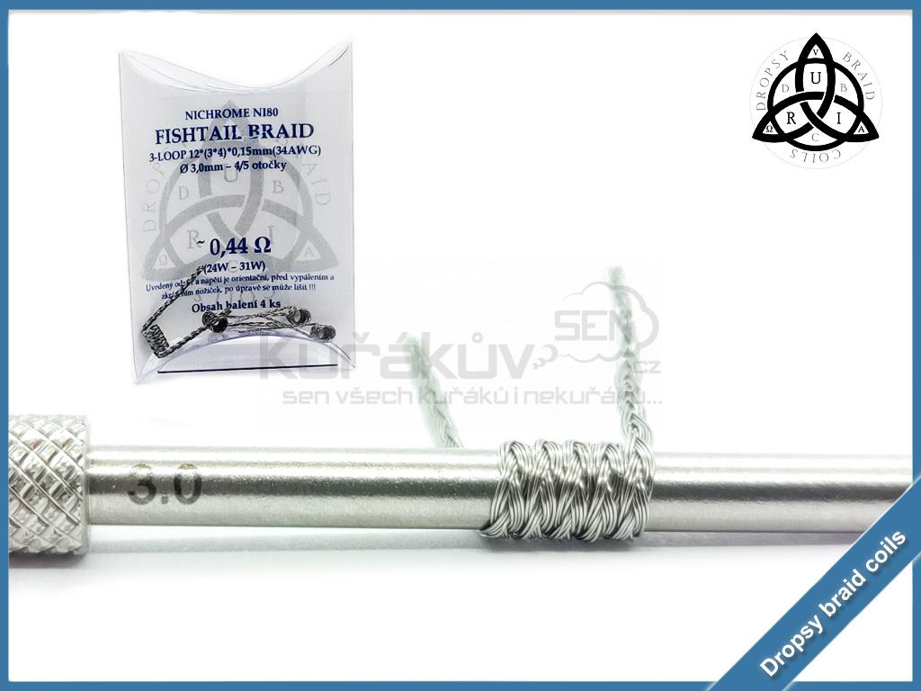 3 loop Fishtail braid 12 044 ni80