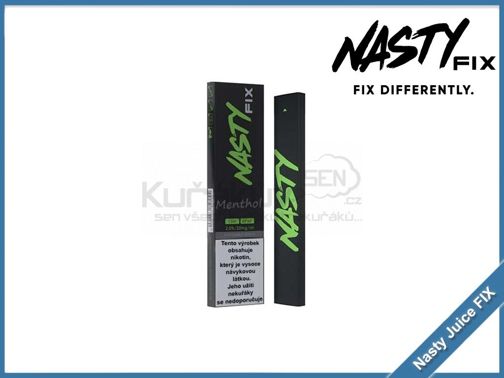 jednorazova elektronicka cigareta nasty juice fix menthol