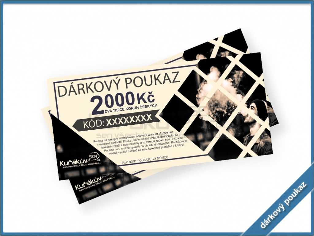 voucher darkovy poukaz 2000